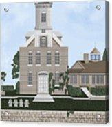 Morgan Point Mystic Harbor Conn Acrylic Print