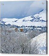 Mormon Tabernacle In Snow II Acrylic Print