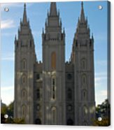 Mormon Temple Fall Acrylic Print
