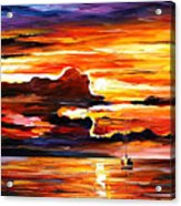 Morning After The Storm - Palette Knife Oil Painting On Canvas By Leonid Afremov Acrylic Print