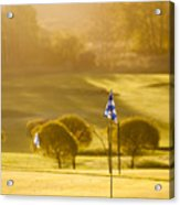 Morning At Golf Course Acrylic Print