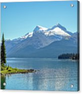 Morning At Lake Maligne, Canada Acrylic Print