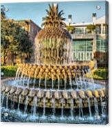 Morning At Pineapple Fountain Acrylic Print