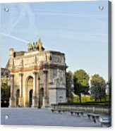 Morning At The Arc De Triomphe Du Carrousel  Acrylic Print