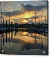 Morning At The Marina Acrylic Print