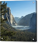 Morning At Tunnel View Acrylic Print