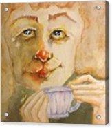 Morning Coffee Girl Acrylic Print