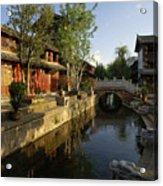 Morning Comes To Lijiang Ancient Town Acrylic Print
