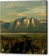 Morning Dawns On The Tetons Acrylic Print