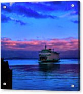 Morning Ferry Acrylic Print