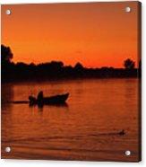 Morning Fishing On The Lake Acrylic Print