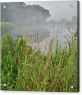 Morning Fog On Glacial Park Pond Acrylic Print