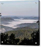 Morning Fog On Pine Mountain Acrylic Print