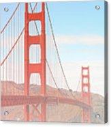 Morning Has Broken - Golden Gate Bridge San Francisco Acrylic Print