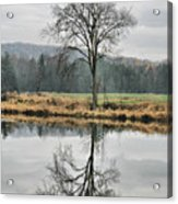 Morning Haze And Reflections Acrylic Print