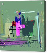 Morning In Her Pink Pajamas Acrylic Print by Lenore Senior