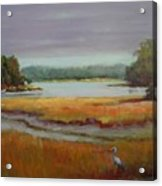 Morning In The Salt Marsh Acrylic Print