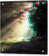 Morning Light - Use Red-cyan 3d Glasses Acrylic Print