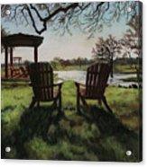 Morning Light At The Vineyard Florence Texas Acrylic Print