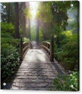 Morning Light On The Bridge Acrylic Print