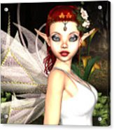Morning Lily Fairy Acrylic Print
