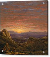 Morning Looking East Over The Hudson Valley From The Catskill Mountains Acrylic Print