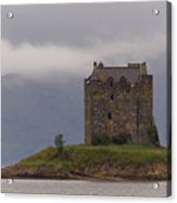 Morning Mist Castle Stalker Acrylic Print