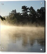 Morning Mist Glowing In Sunlight Acrylic Print