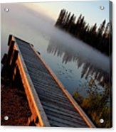 Morning Mist Over Lynx Lake In Northern Saskatchewan Acrylic Print