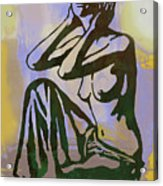 Dawning - Nude Pop Stylised Art Poster Acrylic Print