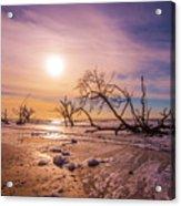 Morning On Boneyard Beach Acrylic Print