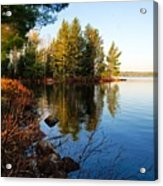 Morning On Chad Lake 4 Acrylic Print by Larry Ricker