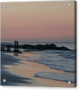 Morning On The Beach At Cape May Acrylic Print