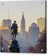 Morning On The Parkway - Philadelphia Acrylic Print
