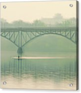 Morning On The Schuylkill River - Strawberry Mansion Bridge Acrylic Print