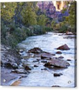 Morning On The Virgin River Acrylic Print
