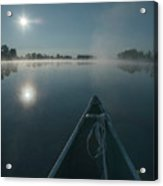 Morning Paddle On The Mississippi Acrylic Print
