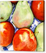 Morning Pears and Apples Acrylic Print