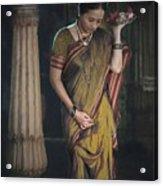 Morning Pooja Acrylic Print