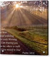 Morning Psalms Scripture Photo Acrylic Print
