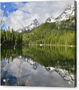 Morning Reflection On String Lake Acrylic Print