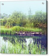 Morning River In Old Dutch Village Acrylic Print