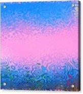 Morning Sea Fog.cold Water Acrylic Print