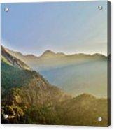 Morning Shadows In The Himalayas Acrylic Print
