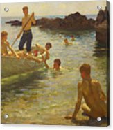 Morning Splendour Acrylic Print by Henry Scott Tuke