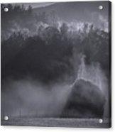 Morning Sun Rising Fog Cades Cove Acrylic Print