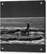 Morning Surfer Acrylic Print