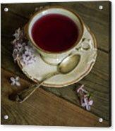 Morning Tea With Lilacs Acrylic Print