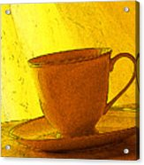 Morning Teacup Acrylic Print
