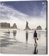 Morning Walk At The Beach Acrylic Print